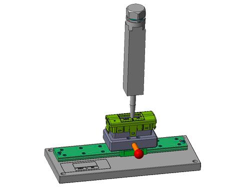 Vorrichtung mit Aufnahmeschlitten für Plasmabeaufschlagung