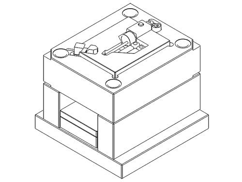Musterspritzwerkzeug mit Losteilen und Schrägschieber für Kleinserien