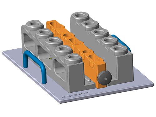 Vergussvorrichtung mit Klemmschieber für Vergussautomaten
